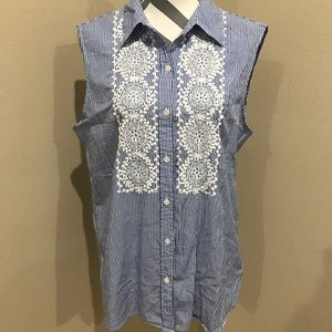 Charter Club Tops - Women's Button Down Blouse